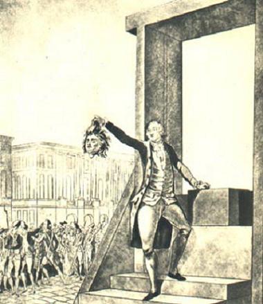 Énigme 169 : L'expédition du roi Louis_XVI-_La_victime_d%5C%27Egalit%C3%A9-_Le_duc_d%5C%27Ol%C3%A9ans_appuy%C3%A9_%C3%A0_la_guillotine_et_brandissant_la_t%C3%AAte_de_Louis_XVI_-_gravure_anglaise